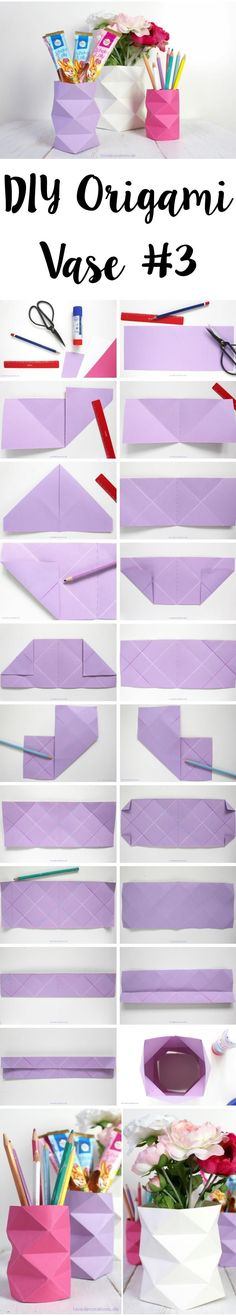 DIY Origami Papier-Vase | DIY Origami Vase made of Paper #OrigamiLife