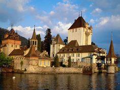 Oberhofen Castle, Lake Thun, Switzerland