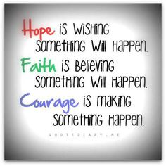 hope, faith, and courage #quote