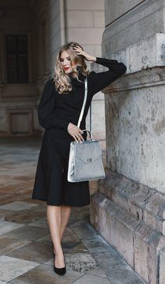#orovicafashion #blackoutfit #outfitforoffice Black Culottes, Timeless Fashion, Suits, Chic, Womens Fashion, Design, Shabby Chic, Elegant