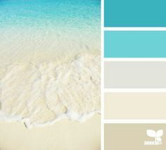 Since we love the beach these colors would be great, especially in the bedroom. Beach Color Palet