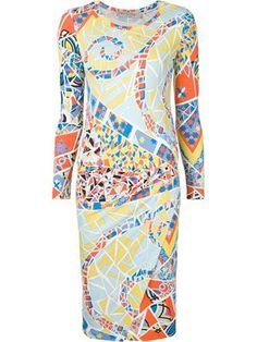 Kleid mit Mosaik-Print