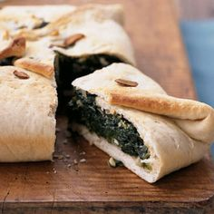 Readers love a one-dish meal; this updated casserole is a cross between a vegetarian calzone and the classic Greek dish spanakopita.