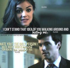 Lucy Hale (Aria) & Ian Harding (Ezra) - Pretty Little Liars