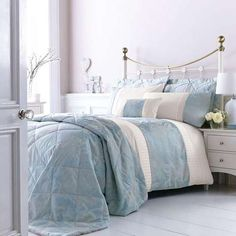 Duck Egg Olivia Bed Linen Collection