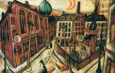 Max Beckmann - The Synagogue in Frankfurt am Main, 1919 at Städel Art Museum Frankfurt Germany German Expressionist, German Expressionism, Max, Painting, Expressionist, Jewish Art, German Art, Max Beckmann, En Plein Air Painting