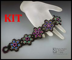 kit Starburst Bracelet multicolor Beadwoven bracelet kit