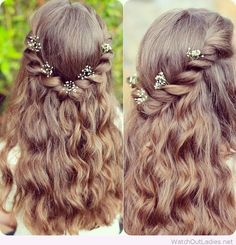 A very sweet hairstyle for a boho look