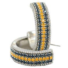 Fan Hoops Earrings - #WVU