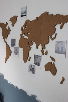 Diy ideas inspirations from hobby lobby pinterest wall worldmap in cork gumiabroncs Image collections