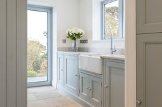 Stoke Fleming Utility Like the colours Boot Room Utility, Small Utility Room, Utility Room Designs, Utility Cupboard, Utility Room Ideas, Utility Room Sinks, Mudroom Laundry Room, Laundry Room Design, Laundry Cabinets