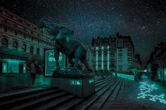 Bioluminescent Bacteria Could Light Up The Streets Of Paris Glowee, a Parisian start-up, plans to use bacteria found in squid to illuminate shop fronts, public spaces, and installations, with the hope of lighting up whole streets with these microbial lamps.