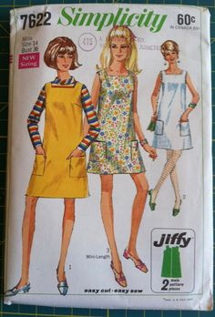 Vintage 1960s Sewing Pattern Simplicity 7622 by CymbalineVintage