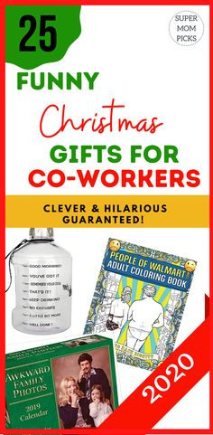 The best gift is the gift of laughter! This list of epic Christmas gifts for coworkers will make their day! #funnygifts #hilariousgiftsforcoworkers #funnygiftsfor colleagues #supermopicks #giftexchange #clevergifts #funnyofficegifts #whiteelephantgifts #christmasgifts