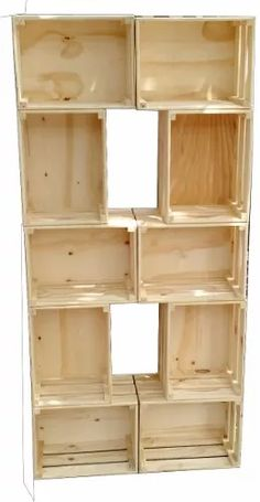 Diy Home Furniture, Diy Home Decor, Room Decor, Pallet Ideas Easy, Diy Storage Boxes, Small Closet Organization, Crate Shelves, Office Interior Design, Diy Wood Projects