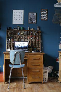 eigenes Büro, Tags Büro + Setzkasten + Flohmarkt