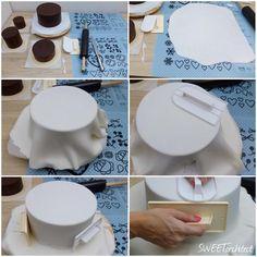 Cake Decorating Frosting, Cake Decorating Supplies, Cake Decorating Techniques, Fondant Cake Toppers, Fondant Cakes, Cupcake Cakes, Whale Cakes, Eid Cake, Ganache Cake