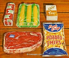 Ingredients for a Steak Dinner- csa images