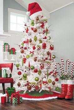 Decoración para árboles de Navidad blancos - Dale Detalles