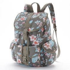 885342dc2888 Candie s Abigail Cargo Backpack (Grey) ( 27) ❤ liked on Polyvore featuring  bags