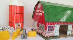 Retro Marx Lazy Day Farm Tin  Litho Toy by YourGreatestStory