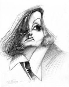 Greta Garbo (by Vizcarra)