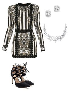 """Diana's Dinner Party"" by queenprincessliarra ❤ liked on Polyvore featuring Balmain and Bloomingdale's"
