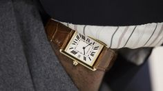 Cartier Louis Tank.The Tank 100 years old next year and is still a classic