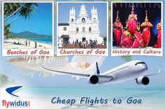 Goa is a small state in the Indian sub-continent. Goa is a place where the shores will provide you pleasures of life. Domestic Airlines, Lowest Airfare, Cheap Air Tickets, Online Travel, Travel Companies, Cheap Flights, Goa, Continents, Taj Mahal