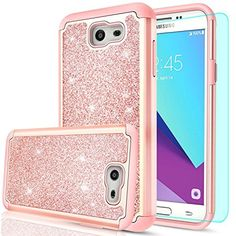 Galaxy J7 Perx Case,Galaxy Prime / V/ Sky Pro/ Halo Glitter With HD Screen Heavy #Doesnotapply