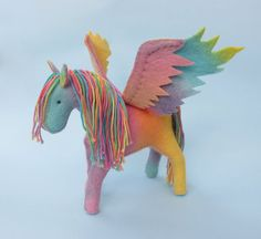 Felt Pegasus & Horse Sewing Pattern PDF by LoriDesignsOnline