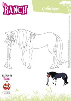 Image associée Le Ranch, Horse Drawings, Scrapbooking, Coloring Pages, Activities For Kids, Moose Art, Creative, Composition, Iphone