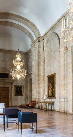 Square Armchair / Square Stool / design Christophe Pillet / Palazzo Farnese Roma