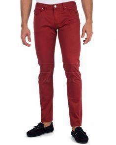 Jeans Armani, Emporio Armani, Parachute Pants, Boys, Men, Fashion, Red Pants, Clothing Branding, Style