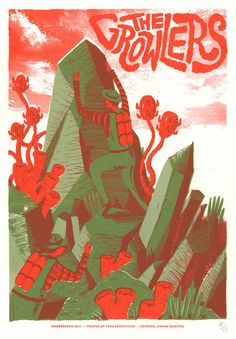 Gig poster The Growlers ~ Douwe Dijkstra