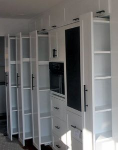 space saving kitchen pantry pull out doors for shelving