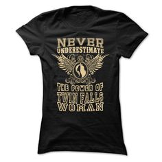 Never Underestimate Twin Falls Women T-Shirts, Hoodies. Check Price Now ==►…