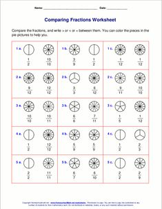 Printables Comparing Fraction Worksheets comparing fractions worksheets educate and tips pinterest ordering worksheets
