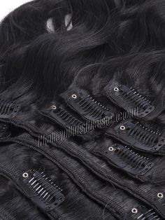 26 Inch #1 Jet Black Clip In Indian Remy Hair Extensions Body Wave 11 Pcs #hairplusbase #hairextension