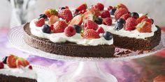 Boodschappen - Brownietaart met zomerfruit