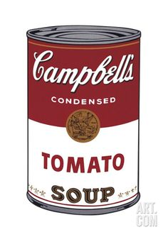 Campbell's Soup I: Tomato, c.1968 Giclee Print by Andy Warhol at Art.com