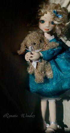 Iliana, art doll, ooak (rwdolls.com) Ooak Dolls, Art Dolls, Pretty Dolls, Handicraft, Doll Clothes, Textiles, Romantic, Fantasy, Disney Princess