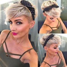 """How to style the Pixie cut? Despite what we think of short cuts , it is possible to play with his hair and to style his Pixie cut as he pleases. For a hairstyle with a """"so chic"""" and pointed… Continue Reading → Short Hair Undercut, Cute Hairstyles For Short Hair, Undercut Hairstyles, Pixie Hairstyles, Short Hair Cuts, Curly Hair Styles, Short Pixie, Pixie Cuts, Haircut Short"""