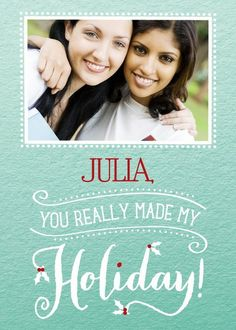 Magnolia Press | Personalized Christmas greeting cards from Treat.com