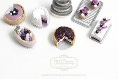 Blueberry limón Tarta de queso en Dollhouse miniatura por PetitDlicious