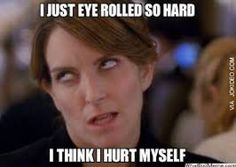 Reaction Pic - Eye roll