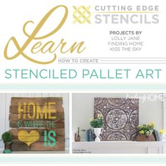 How to Create Stenciled Pallet Art