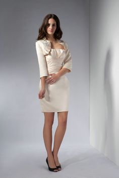 Sheath/Column Satin Strapless Natural Waist Knee-Length Zipper Mother of The Bride Dress with a wrap