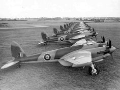 The de Havilland Mosquito was a twin engined aircraft used in World War Two that performed multiple roles as a fighter aircraft and a fighter bomber. De Havilland Mosquito, Ww2 Aircraft, Fighter Aircraft, Military Aircraft, Navy Aircraft, Fighter Pilot, Fighter Jets, Photo Avion, Ww2 Planes