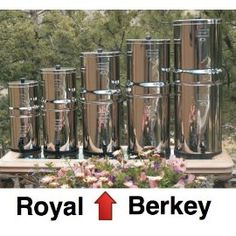 Drink Clean Water - Royal Berkey with 2 Black Berkey Filters and 2 PF2 Fluoride Filters